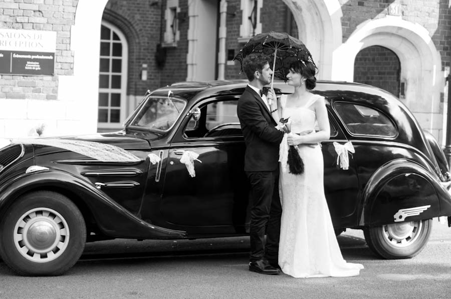 mariage gatsby, mariage inspiration années 30, mariage années 30, mariage en noir et blanc, mariage inspiration Gatsby, photographe mariage roubaix, photographe mariage nord, photographe mariage hauts de france